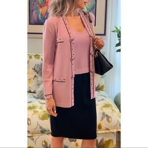ST. JOHN Collection 2-Piece Lilac Jacket and Tank